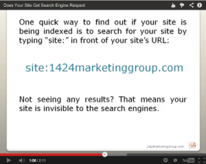 still image from 1424 Marketing Group video about using search query parameters