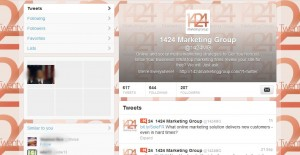 View of 1424's Twitter profile page